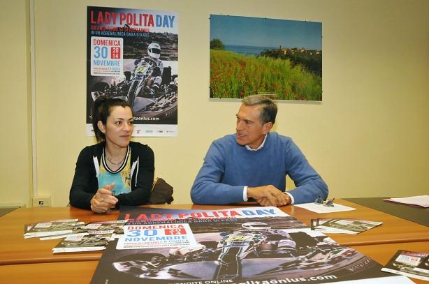 Alessia Polita con l'assessore Luigi Viventi questa mattina in Regione